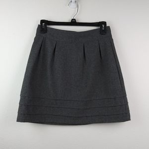 Tulle(Anthropologie) Gray A line skirt Wool Blend